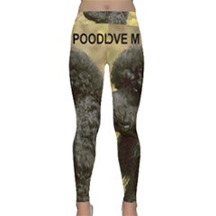 Poodle Love W Pic Black Classic Yoga Leggings