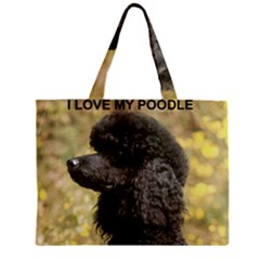 Poodle Love W Pic Black Zipper Mini Tote Bag