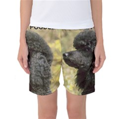 Poodle Love W Pic Black Women s Basketball Shorts