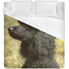 Poodle Love W Pic Black Duvet Cover (King Size)
