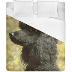 Poodle Love W Pic Black Duvet Cover (California King Size)