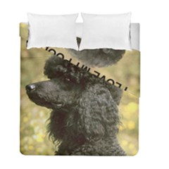 Poodle Love W Pic Black Duvet Cover Double Side (Full/ Double Size)