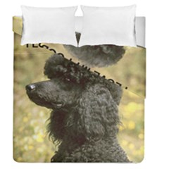 Poodle Love W Pic Black Duvet Cover Double Side (Queen Size)