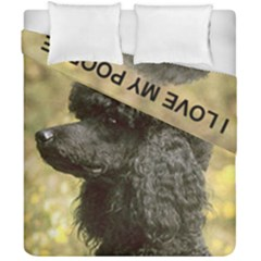 Poodle Love W Pic Black Duvet Cover Double Side (California King Size)