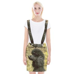 Poodle Love W Pic Black Suspender Skirt