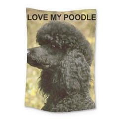 Poodle Love W Pic Black Small Tapestry