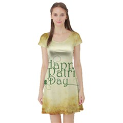 Irish St Patrick S Day Ireland Short Sleeve Skater Dress