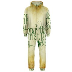 Irish St Patrick S Day Ireland Hooded Jumpsuit (Men)