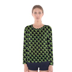 St Patrick S Day Background Women s Long Sleeve Tee