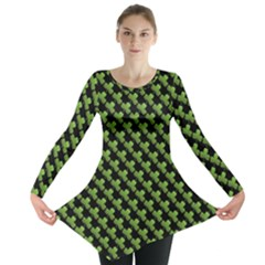 St Patrick S Day Background Long Sleeve Tunic