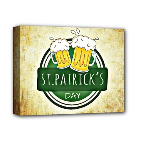 Irish St Patrick S Day Ireland Beer Deluxe Canvas 14  x 11