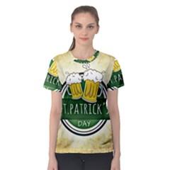 Irish St Patrick S Day Ireland Beer Women s Sport Mesh Tee