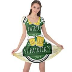 Irish St Patrick S Day Ireland Beer Cap Sleeve Dresses