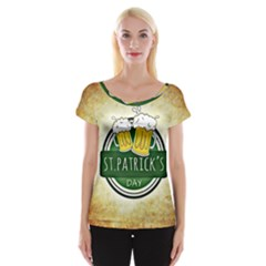 Irish St Patrick S Day Ireland Beer Women s Cap Sleeve Top