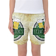 Irish St Patrick S Day Ireland Beer Women s Basketball Shorts
