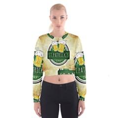 Irish St Patrick S Day Ireland Beer Women s Cropped Sweatshirt