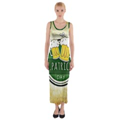 Irish St Patrick S Day Ireland Beer Fitted Maxi Dress