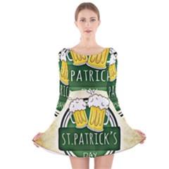 Irish St Patrick S Day Ireland Beer Long Sleeve Velvet Skater Dress