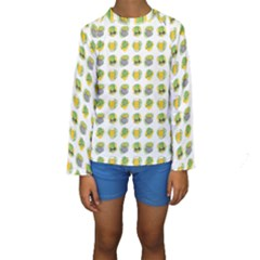 St Patrick S Day Background Symbols Kids  Long Sleeve Swimwear