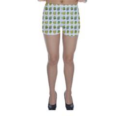 St Patrick S Day Background Symbols Skinny Shorts