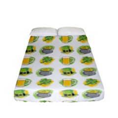 St Patrick S Day Background Symbols Fitted Sheet (full/ Double Size)