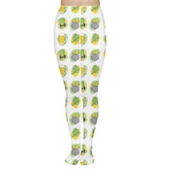 St Patrick S Day Background Symbols Women s Tights