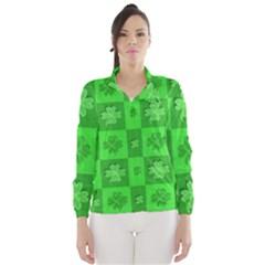 Fabric Shamrocks Clovers Wind Breaker (Women)