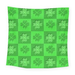Fabric Shamrocks Clovers Square Tapestry (large)