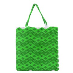 Shamrocks 3d Fabric 4 Leaf Clover Grocery Tote Bag