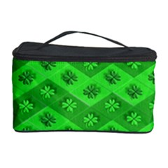 Shamrocks 3d Fabric 4 Leaf Clover Cosmetic Storage Case