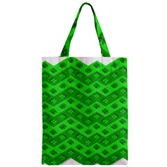 Shamrocks 3d Fabric 4 Leaf Clover Zipper Classic Tote Bag