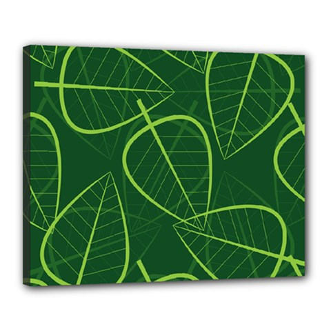 Vector Seamless Green Leaf Pattern Canvas 20  X 16