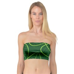 Vector Seamless Green Leaf Pattern Bandeau Top
