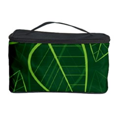 Vector Seamless Green Leaf Pattern Cosmetic Storage Case
