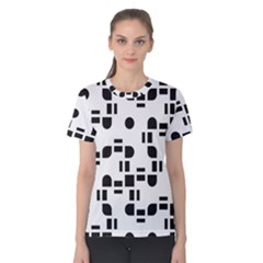 Black And White Pattern Women s Cotton Tee