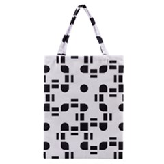 Black And White Pattern Classic Tote Bag