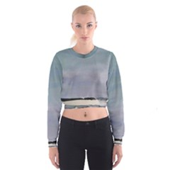 Green Line  Women s Cropped Sweatshirt