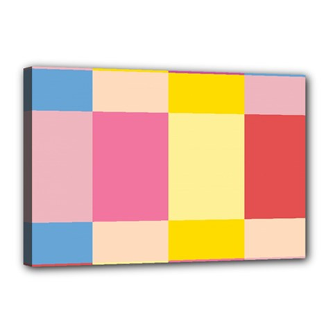 Colorful Squares Background Canvas 18  X 12