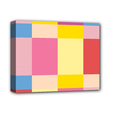 Colorful Squares Background Deluxe Canvas 14  x 11