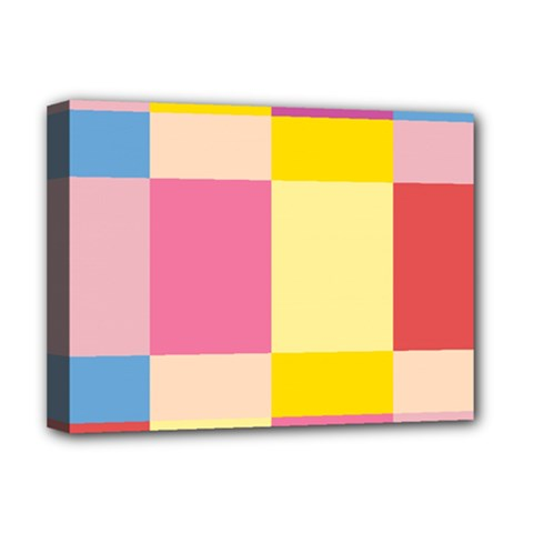 Colorful Squares Background Deluxe Canvas 16  X 12