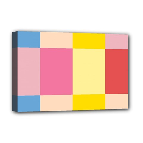 Colorful Squares Background Deluxe Canvas 18  x 12