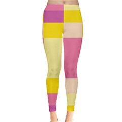 Colorful Squares Background Leggings