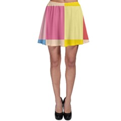 Colorful Squares Background Skater Skirt