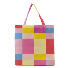 Colorful Squares Background Grocery Tote Bag