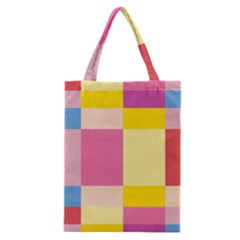 Colorful Squares Background Classic Tote Bag