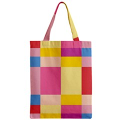 Colorful Squares Background Zipper Classic Tote Bag