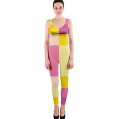 Colorful Squares Background Onepiece Catsuit