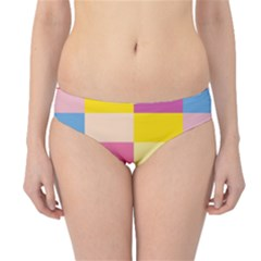 Colorful Squares Background Hipster Bikini Bottoms