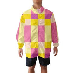 Colorful Squares Background Wind Breaker (kids)