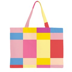 Colorful Squares Background Large Tote Bag